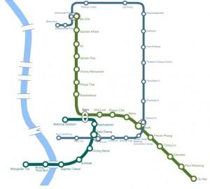 Streckennetz Bangkok Skytrain MRT, Thailand
