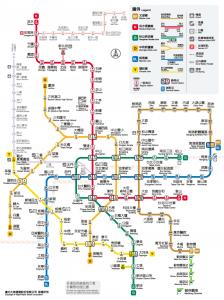 Metro Streckennetz Taipeh