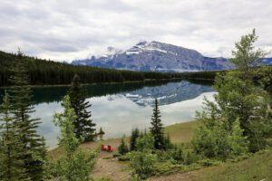 Camping Rocky Mountains Two Jack Lake Banff