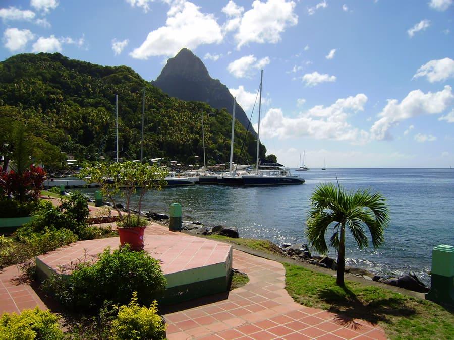 St Lucia Ausblick auf den Gros Piton