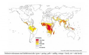 Malaria- Verbreitung weltweit