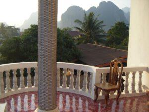 Laos Haven Hotel Vang Vieng Aussicht