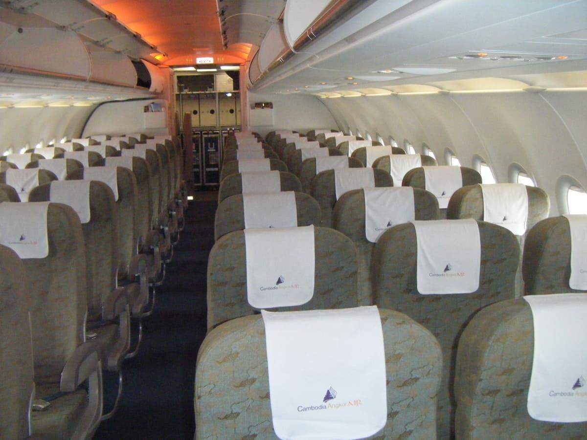 Cambodia Angkor Air Kabine