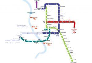 BTS Skytrain und MRT Bangkok