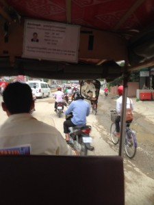 Tuktuk fahren in Phnom Phen