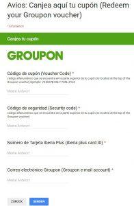 Avios- Groupon einlösen