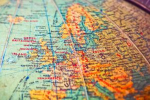 Landkarte Globus
