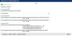 Working Holiday Visum Australien Antrag