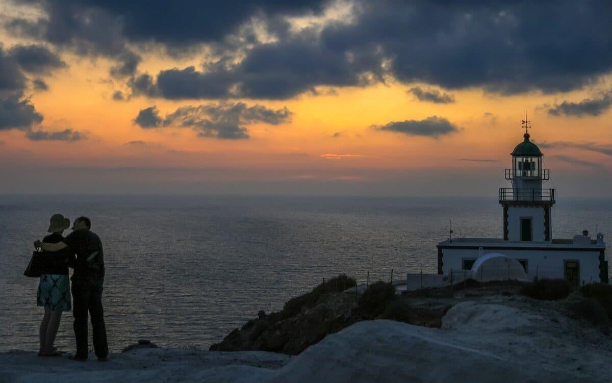 Santorini Akrotiri Leuchtturm