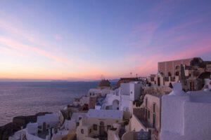Santorini Oia Sonnenuntergang