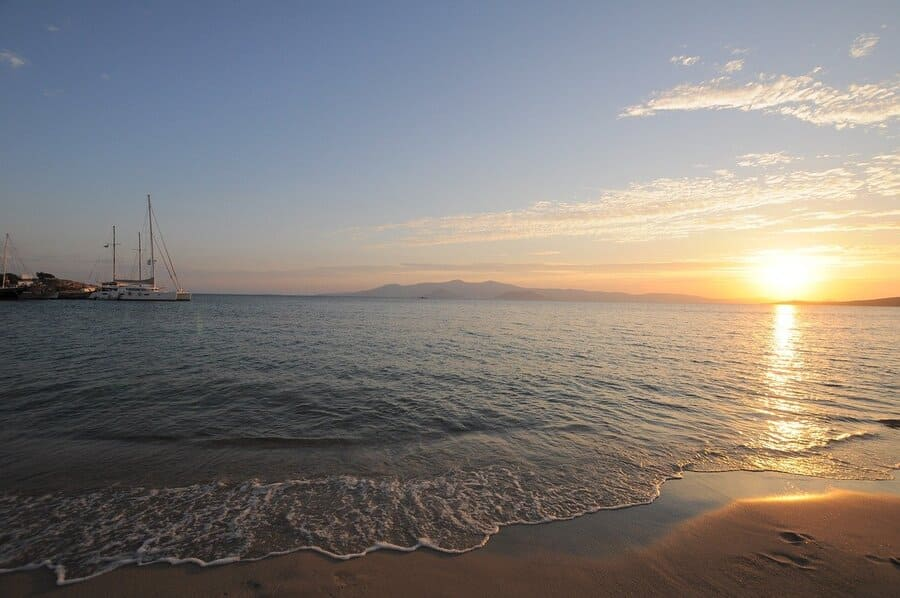 Naxos Strand Sonnenuntergang