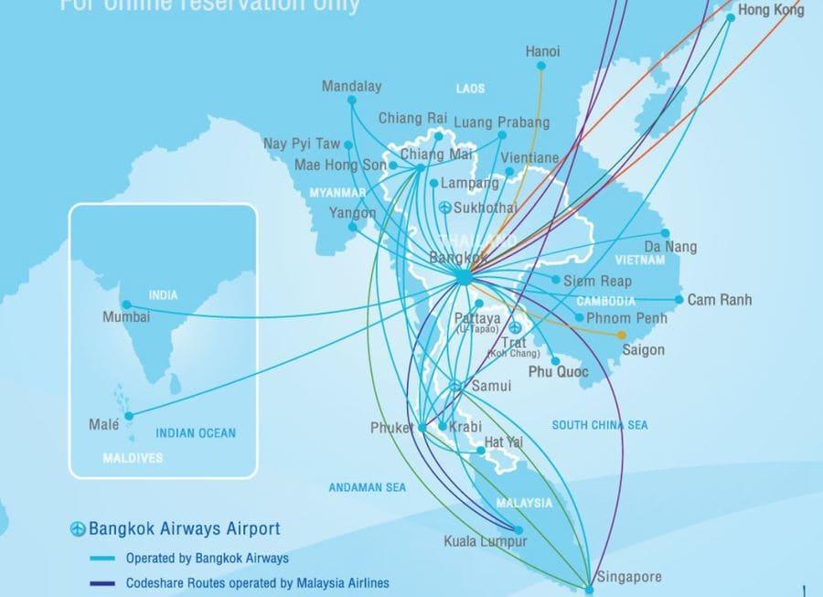 Koh Samui Anreise mit Bangkok Airways
